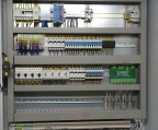 A set of control cabinets.