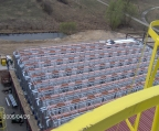 Top view of one of the paver accelerated curing system
